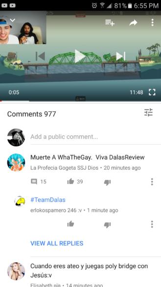 يوتيوب على أندرويد تختبر خصائص الإعجاب وعدم الإعجاب للتعليقات وأكثر