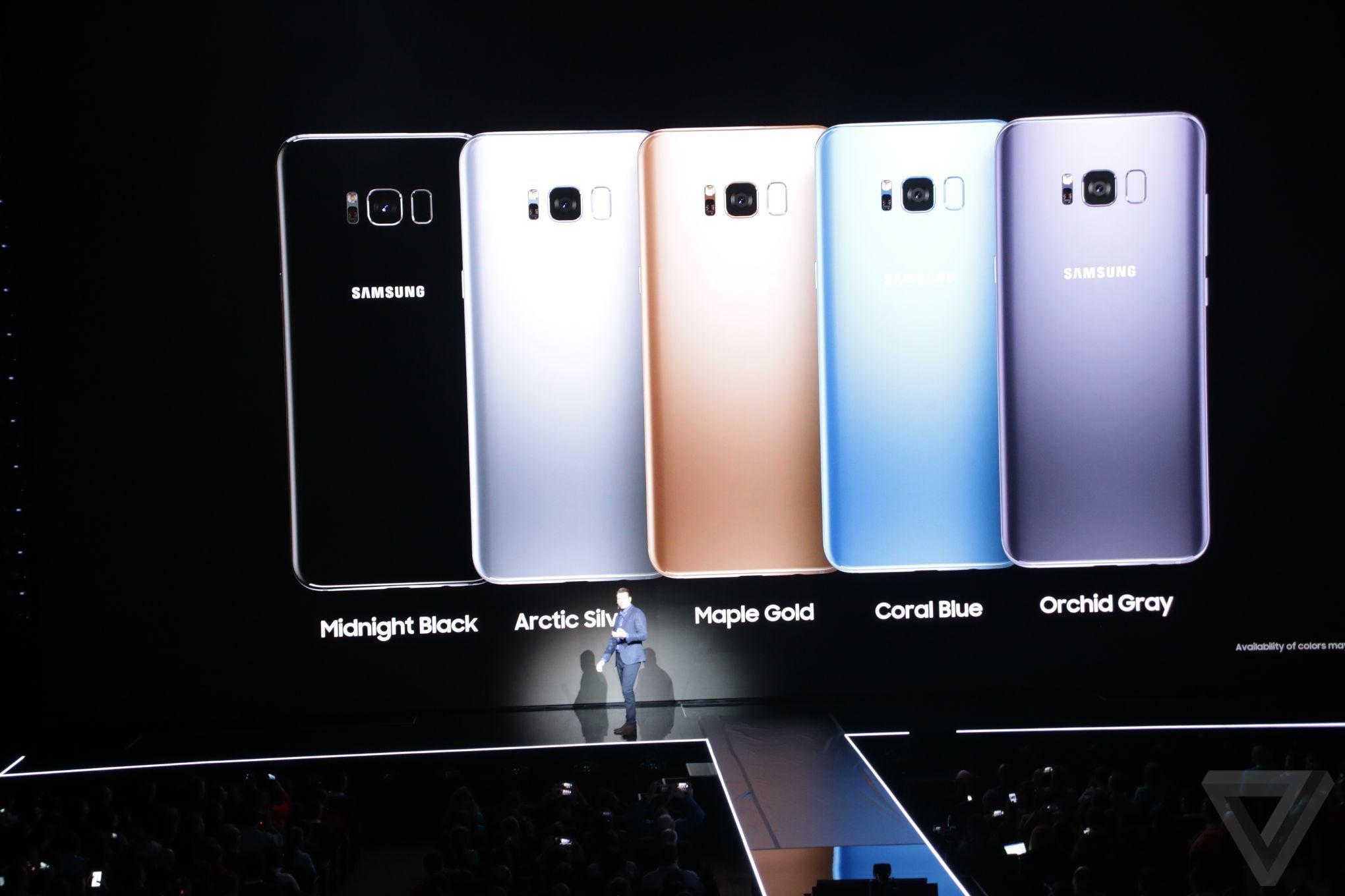 Colores of samsung galaxy s8