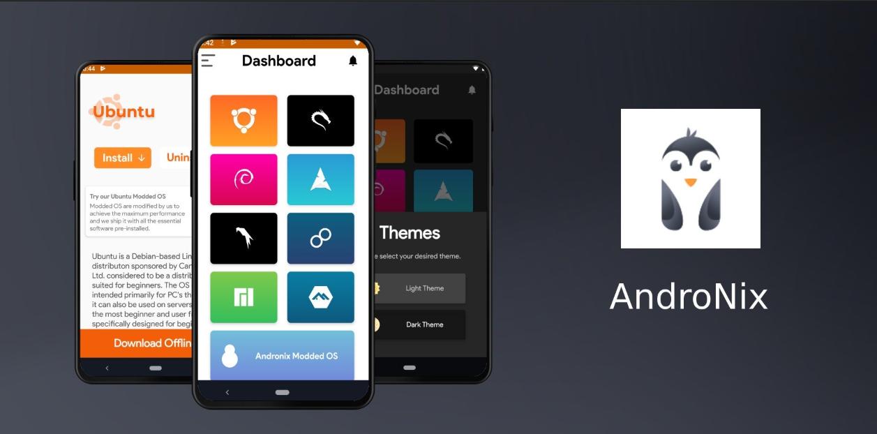صورة جدبد التطبيقات: AndroNix لتثبيت لينكس على أندرويد وبدون روت