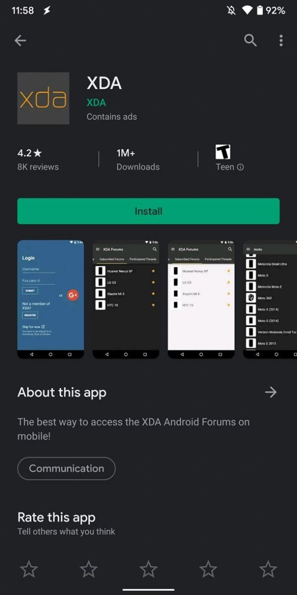 Photo of جوجل تدفع بالثيم المظلم لمتجر جوجل بلاي في بعض هواتف Android 10