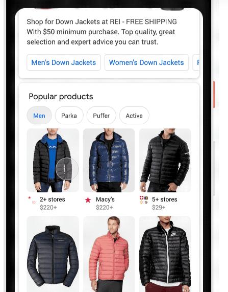 صورة جوجل تحسّن البحث عن الملابس للتسوق عبر محرك البحث