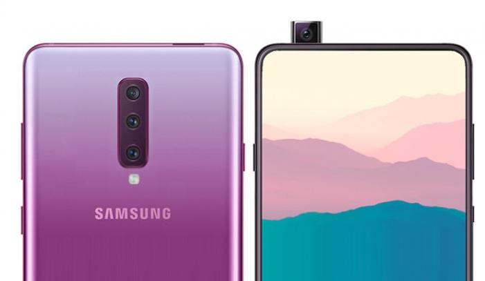 صورة هاتف Galaxy A90 يأتي بشاشة 6.73 إنش مع تقنية شحن أسرع