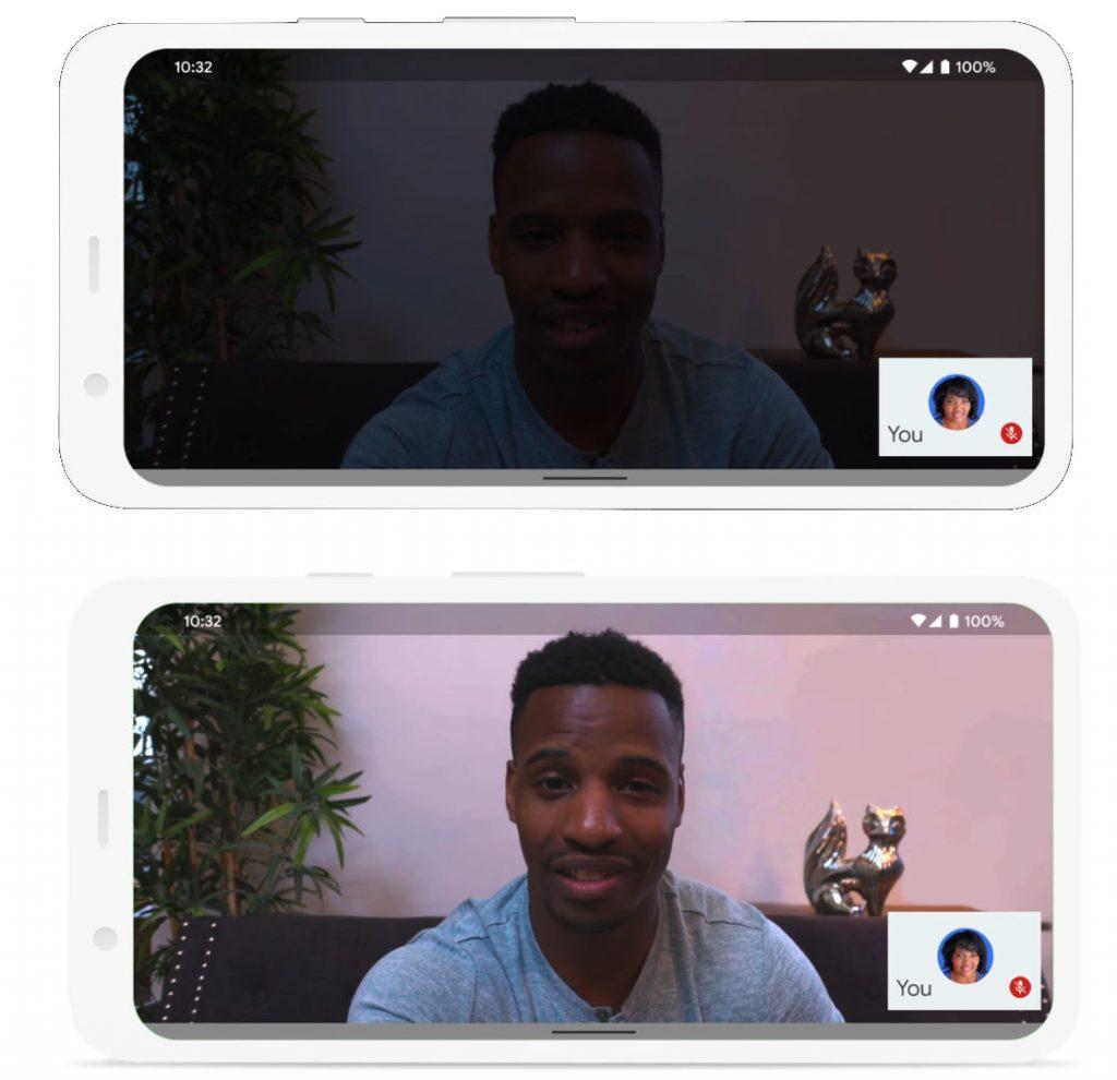 صورة جوجل تجلب نمط الإضاءة المنخفضة في تحديث جديد لتطبيق Google Meet