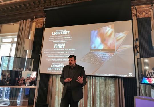 صورة HP تكشف عن أخف حاسب محمول لقطاع العمل Elite Dragonfly x360