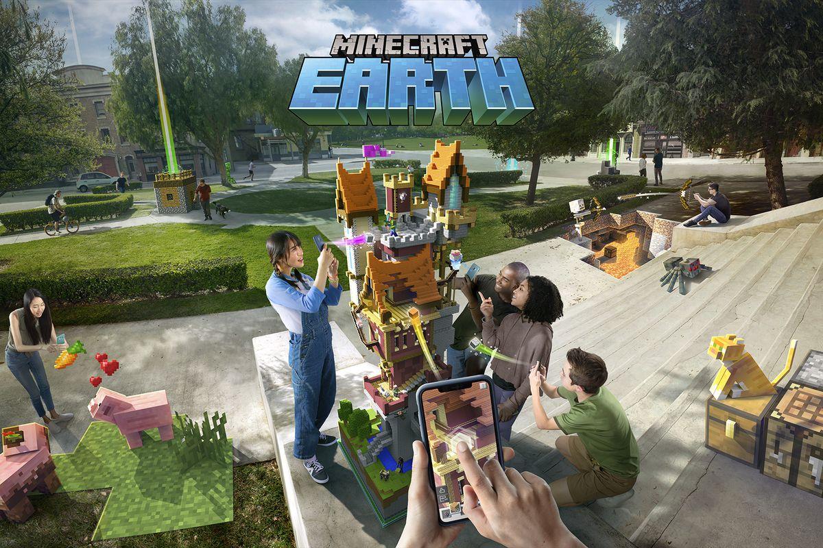 صورة إطلاق لعبة الواقع المُعزز Minecraft Earth في وقت مُبكر من الشهر القادم