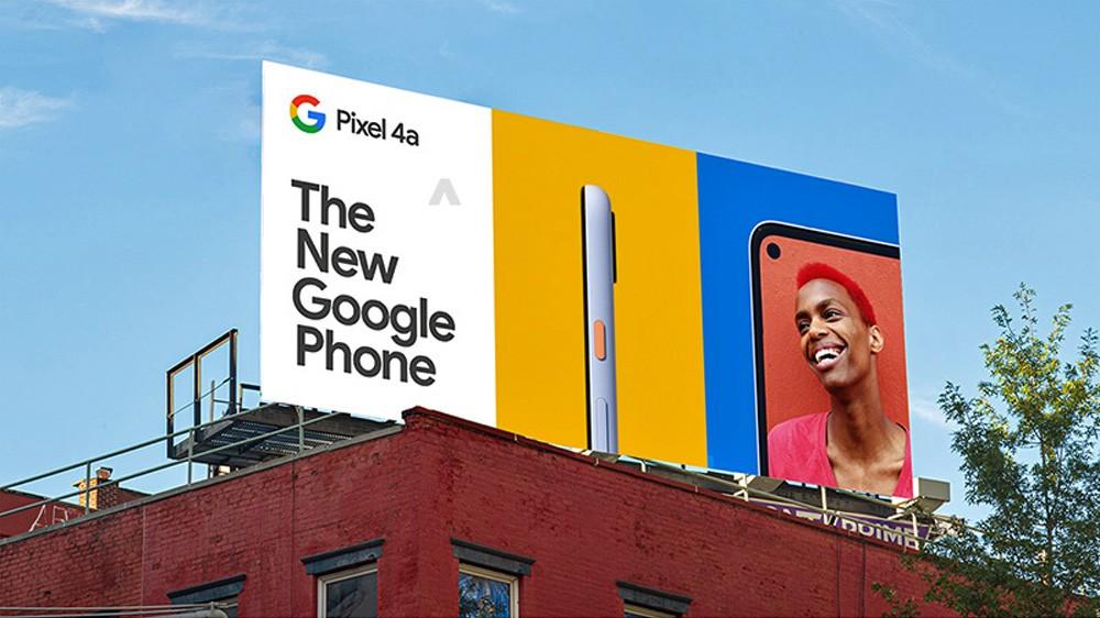 صورة جوجل تكشف عن سعر هاتف Google Pixel 4a في لوحة إعلانية