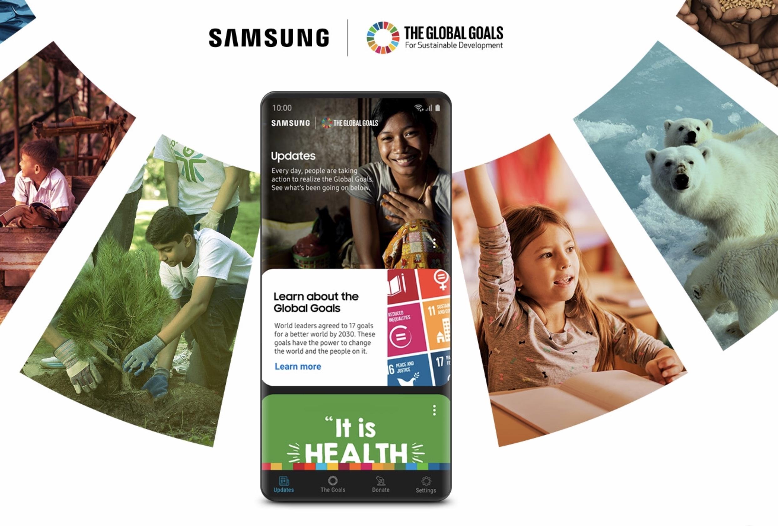Photo of يتيح لك تطبيق سامسونج الجديد Global Goals المساهمة في تحقيق 17 هدفًا عالميًا