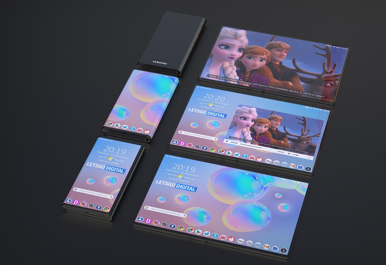 Photo of أحدث براءة إختراع من سامسونج لهاتف مميز بطي مزدوج للشاشة