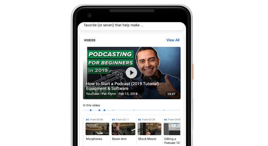 Photo of جوجل توفر ميزة البحث في الفيديوهات عبر الفهرسة الزمنية للمحتوى