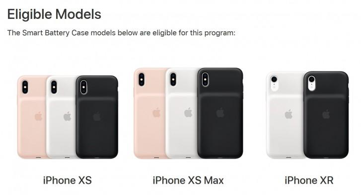 صورة ابل تبدأ برنامج لإستبدال البطارية في حافظة هواتف iPhone XR وXS وأيضاً XS Max