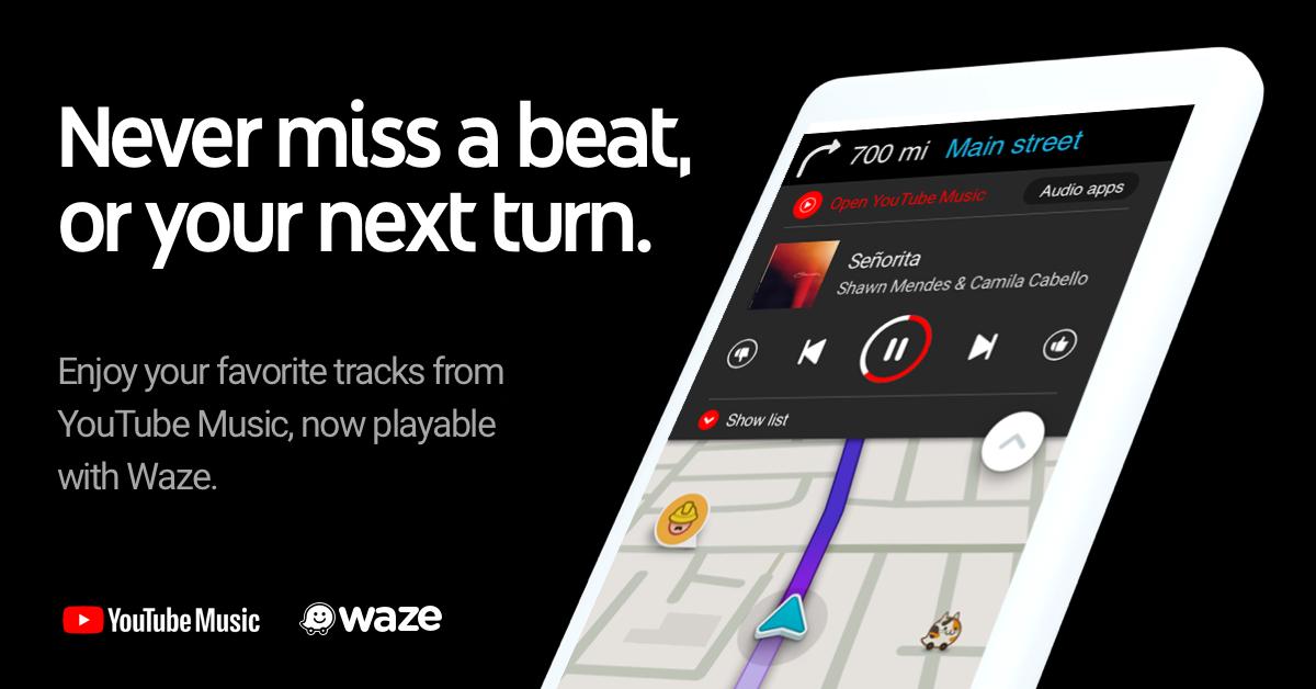 Photo of تطبيق يوتيوب ميوزيك يتكامل الآن مع تطبيق الملاحة Waze