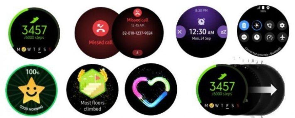 صورة أحدث الصور لساعة سامسونج القادمة Galaxy Watch Active مع واجهة One