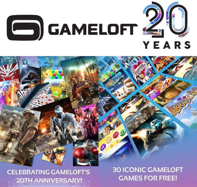 صورة احتفالًا بالذكرى العشرين لها Gameloft تُطلق 30 لعبة كلاسيكية في تطبيق واحد