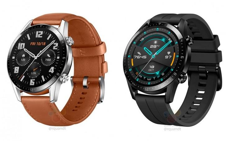 صورة ساعة هواوي Watch GT2 ستأتي بحواف شاشة أصغر وبطارية أكبر
