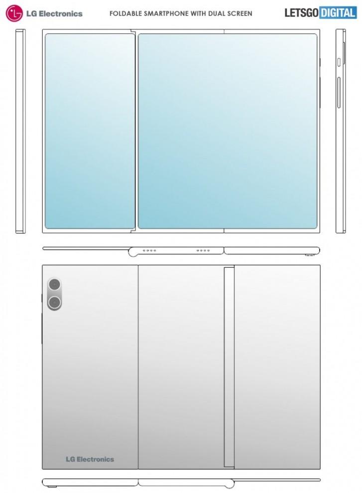 Photo of LG تسجل براءة اختراع لتصميم شاشة هاتف قابلة للطي ثلاث مرات بدون منافذ